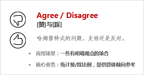 AgreeDisagree[赞]与[踩]